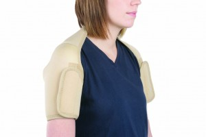 Double neoprene shoulder support