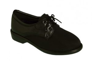 3510 Areli Ladies Elastic Shoe with Elastic Vamp & Black lace