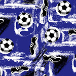 The image of Boots and Balls on Blue - Little Wonders