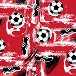 The image of Boots and Balls on Red - Little Wonders