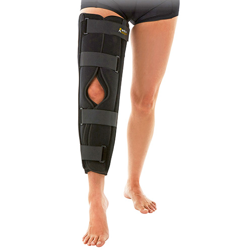 This image shows a product called the Knee Immobiliser