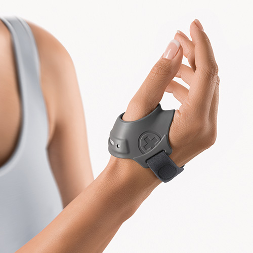 The image shows the RhizoFlex Thumb Ring Brace