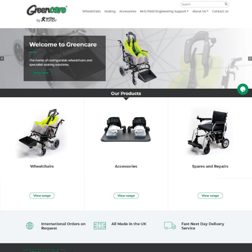 Greencare website screenshot